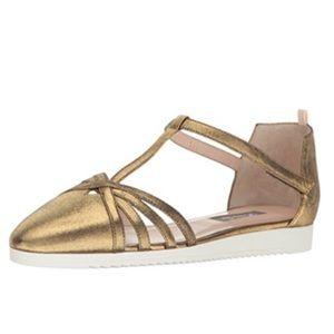 SJP by Sarah Jessica Parker Meteor Gold Sandals 38